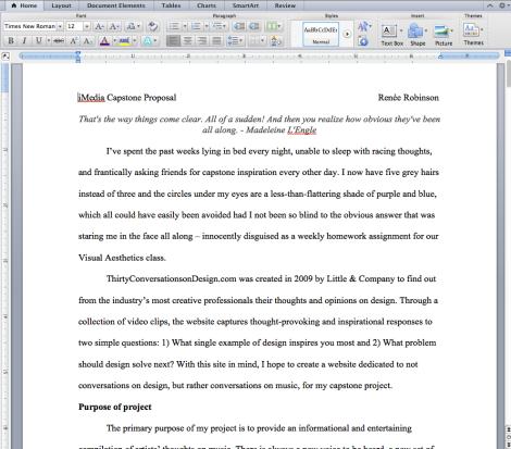 My proposal in-progress